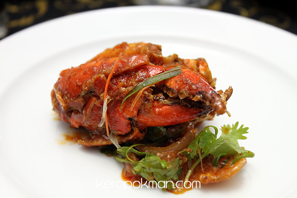 Wok-Fried Chili Sri Lankan Crab Served with Fried Mantou