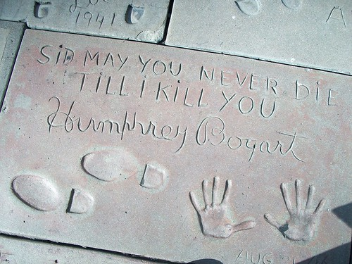 Humphrey Bogart's hand and feet prints