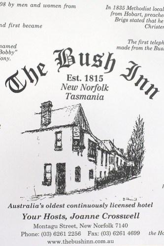 The Bush Inn, New Norfolk by you.