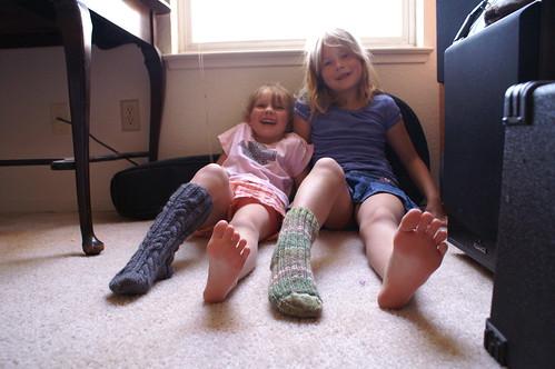kids knit socks 2