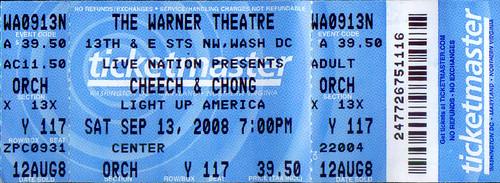 20080713 - Cheech & Chong ticket stub