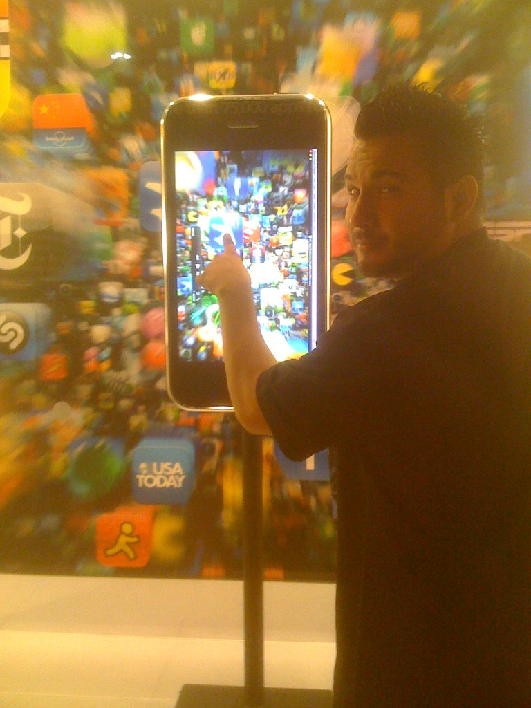 Martin Canchola with the largest  iPhone 3gs