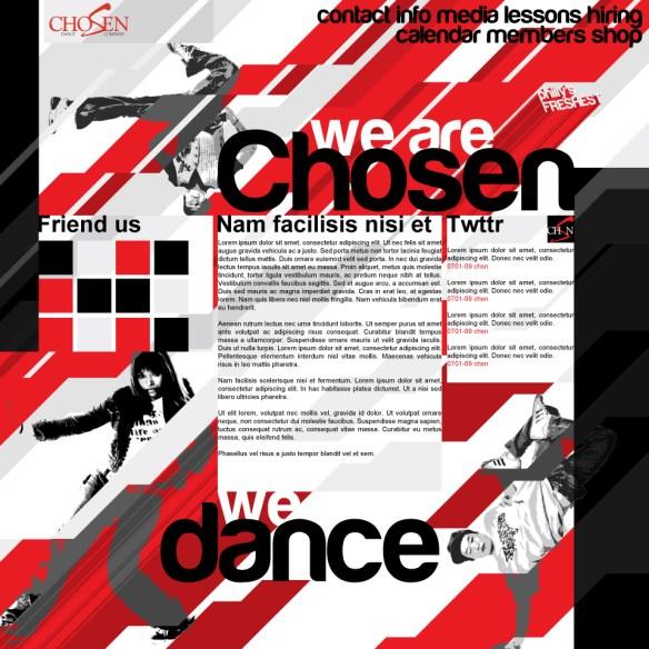 Chosen Dance Web Redesign