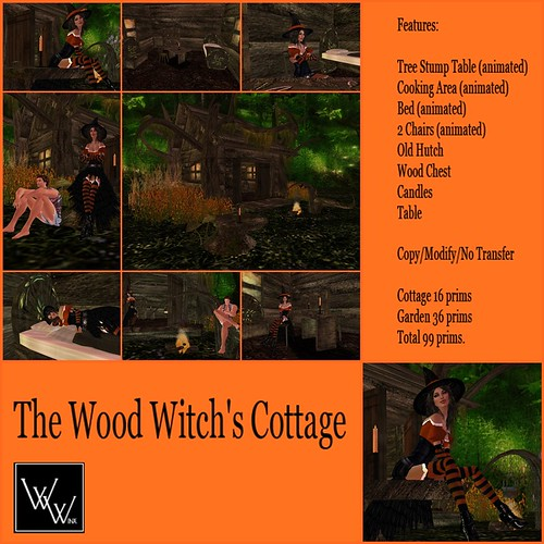 Wood Witchs Cottage Set
