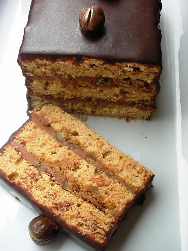 chocolate caramel chestnut cake