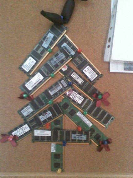 Geek X-mas tree ;)