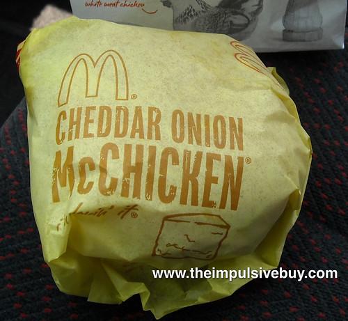McDonald's Cheddar Onion McChicken Sandwich Fully Clothed