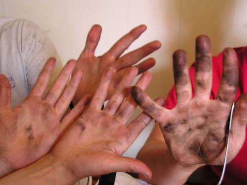 dirty hands on the arthur foss