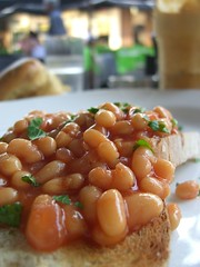 Baked beans on toast close-up - Vanilla Lounge