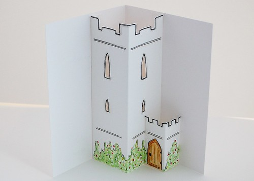 fairytale castle tower - pop up by you.