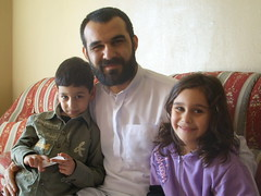 Sheikh Hassan al Burji with his kids