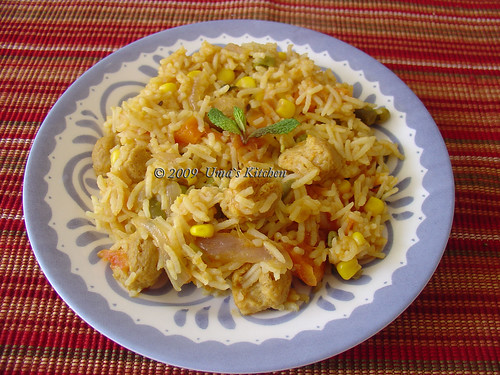 Veg Biryani with Soya Chunks