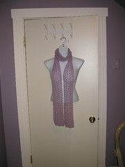 Lavender lace scarf, for Merrils birthday (she got earrings & a bracelet too)