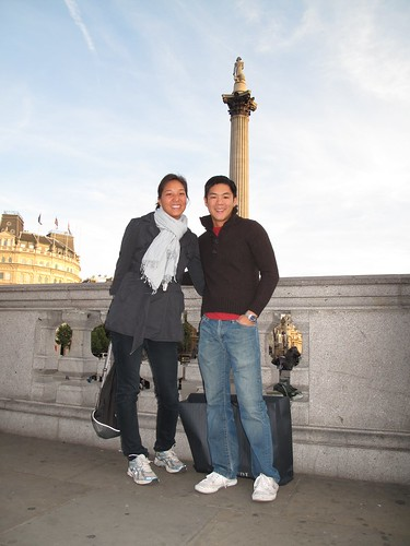 Tico and I in front of Trafalgar Square