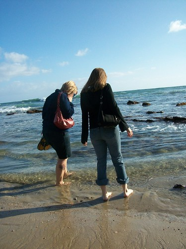 me and erin in the pacific ocean
