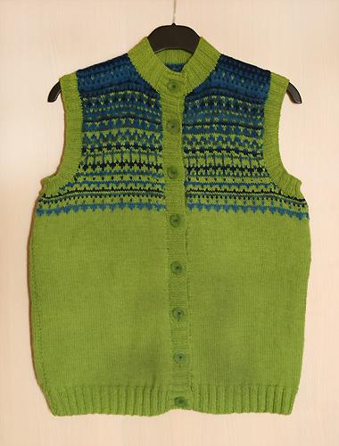 green-blue vest - finished
