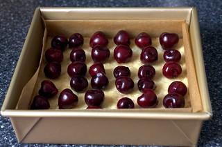 cherries, awaiting their glue
