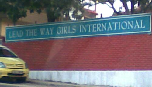 Lead the Way Girls International School sign, Dehiwala