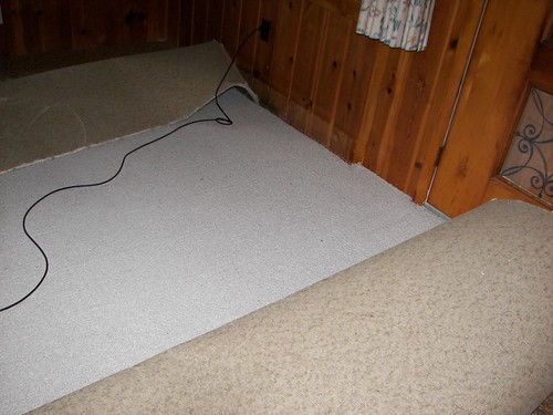 Rolling up the carpet