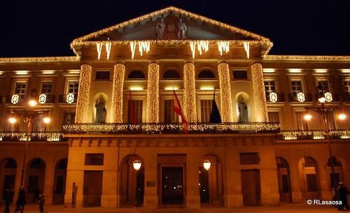 Fachada del Palacio de Navarra hacia el Paseo de Sarasate