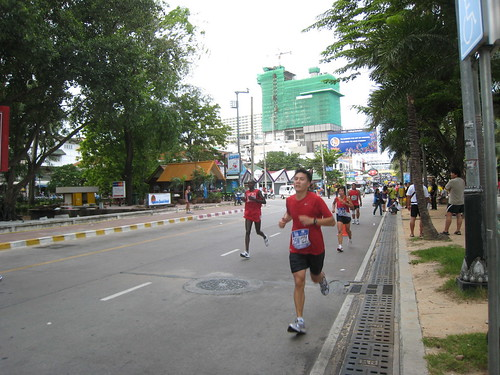 First 1/2 Marathon! ... going strong (Pattaya, Thailand)