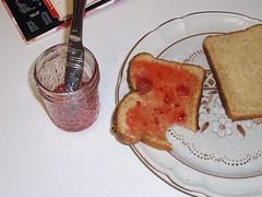 Eat the jam.