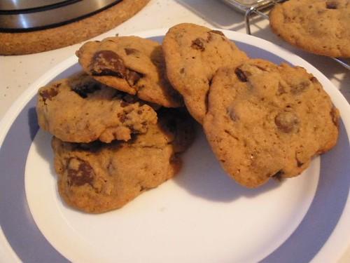 Choco-mint cookies