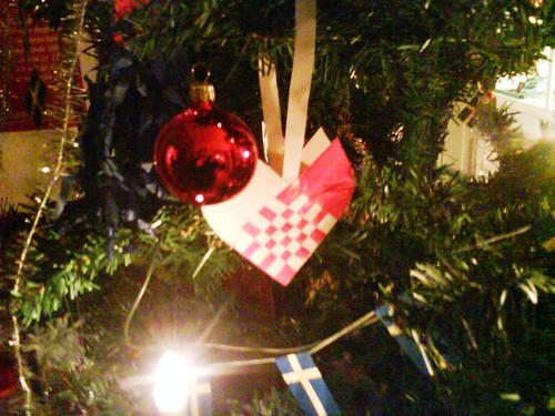 Hand made woven hearts