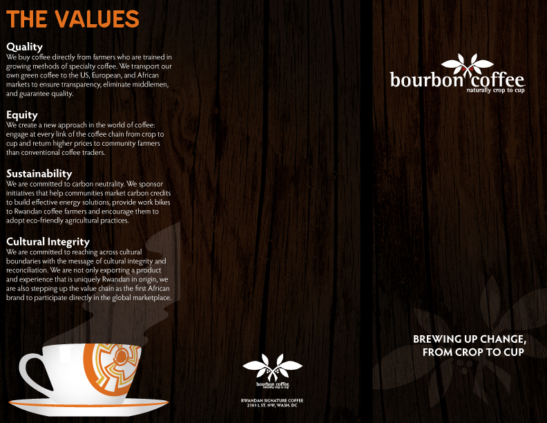 Bourbon Coffee Brewing Change Brochure