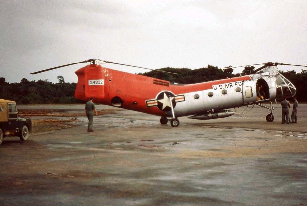 Piasecki H21 Flying Banana Shawnee at MacKenzie Airstrip, MacKenzie, Guyana