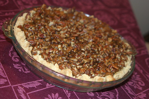 Praline pumpkin pie