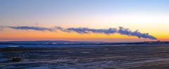 Chimney Smoke at Sunset