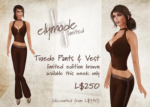 *elymode* Tuxedo Vest & Pants limited