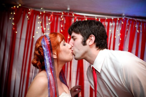 post-cake kiss