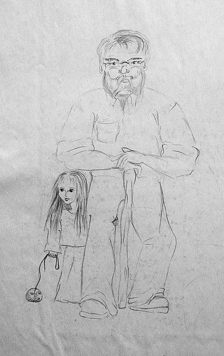Dwarf and young elf - Nain et jeune elfe