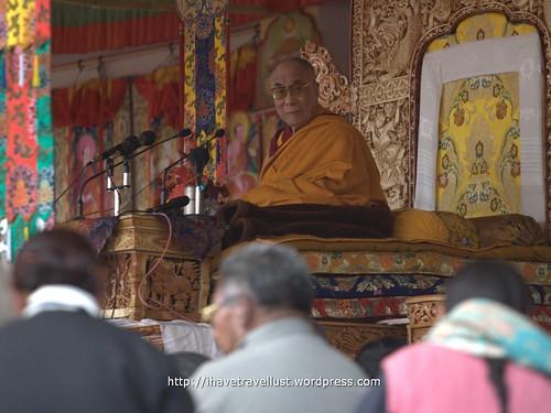 Finally I saw the Dalai Lama