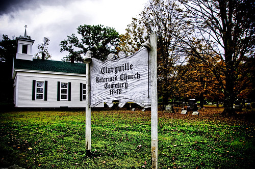 Claryville Cemetery In The Fall
