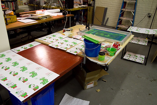 screenprinting in the studio