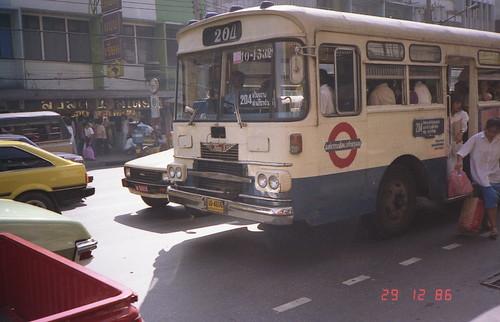 Bangkok Hino Bus in 1986