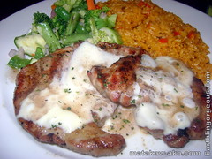 Pork Steak with creamy sauce, Java Rice and Brocoli