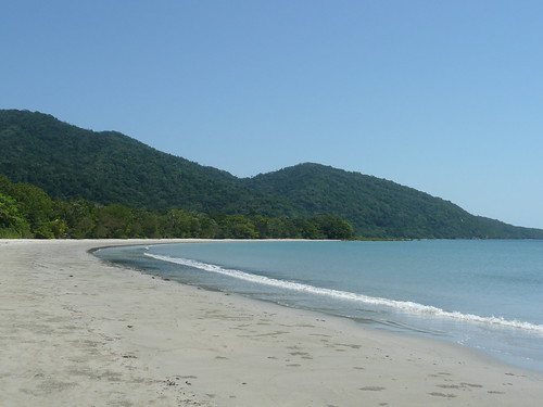 Beach at Cape Tribulation. Its about as far north as you can drive without 4-wheel drive and one of those snorkel-type thingies on your car.  Rainforest, untouched beach, gorgeousness.
