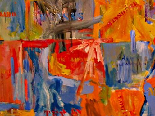 Oklahoma on Jasper Johns map at the MOMA.