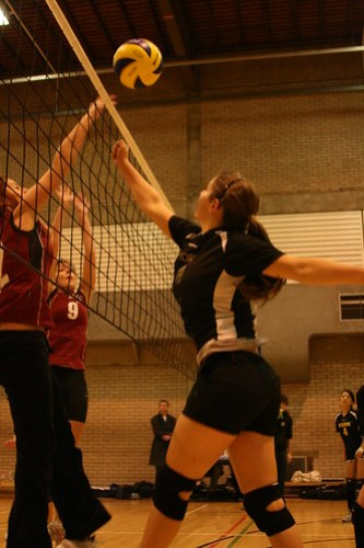 Womens Volleyball v Hallam, 02-12-2009, Photo: Justyn Hardcastle