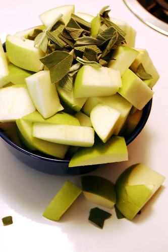 Apples and fresh sage.