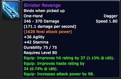 Sinister Revenge - Item - World of Warcraft