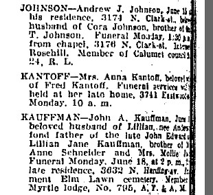 June 16, 1928 Chicago Daily Trib