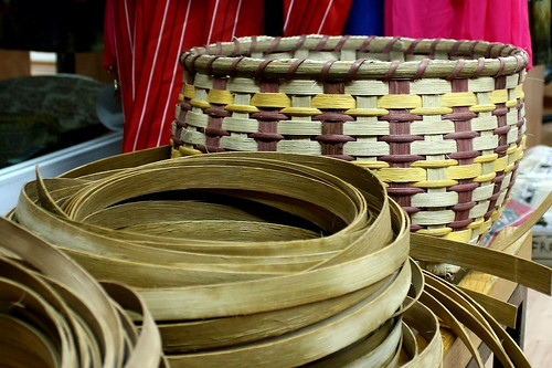 baskets and flat reeds