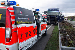 LKW-Unfall nach Herzinfarkt A66 Wallau 06.11.09