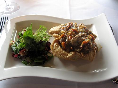 canoe restaurant - duck pot pie plated by foodiebuddha.