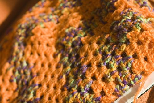 blanket with bad yarn